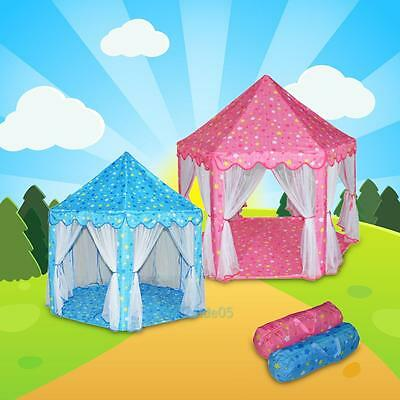 Large Princess Castle Kids Baby Play Tent Children Playhouse Indoor Outdoor Gift