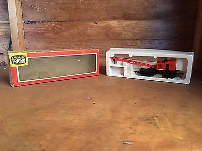 Vintage Boxed Life Like Trains Browning Crane Car Red Ho Gauge Train