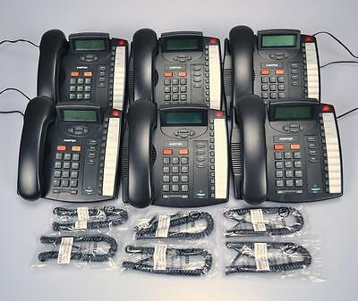 Lot of (6) Aastra 9116LP Black Business Office Telephones