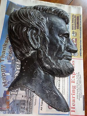 Vintage President ABRAHAM LINCOLN Metal Silhouette Profile Bust