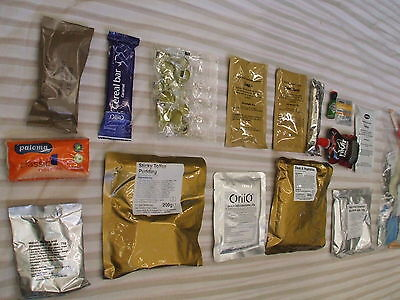 Fishing,Camping,Hiking, Boil-in-the-Bag Ready Meals Army Ration Packs-FREE POST!
