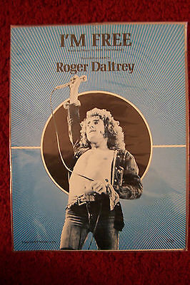 """Music Memorabilia--The Who---Sheet Music For """"i'm Free"""" From """"tommy"""""""