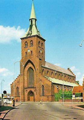 Old Postcard: St. Canute's Cathedral, Denmark.