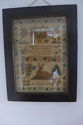 Antique Framed Sampler 1846