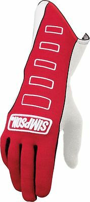 SIMPSON SAFETY Double Layer Large Red Competitor Driving Gloves P/N 21300LR