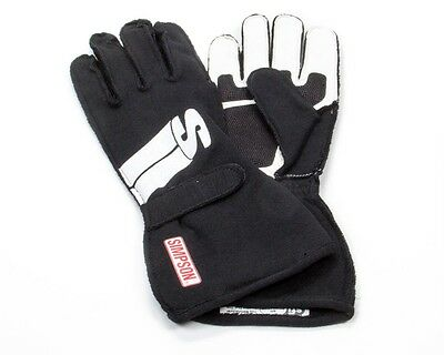 SIMPSON SAFETY Large Black Double Layer Impulse Driving Gloves P/N IMLK
