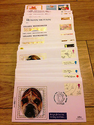 Job Lot of 54 UK GB Benham FDC's First Day Covers from 1993 to 1996 Lot #A134