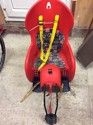 Child Bike / Bicycle Seat Carrier For Baby Kids Up To 22kg Halfords