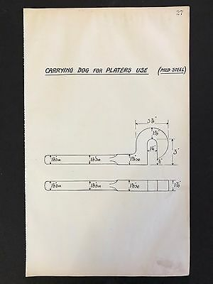 Harland & Wolff -1930's Shipyard Drawing CARRYING DOG FOR PLATERS USE (P27)