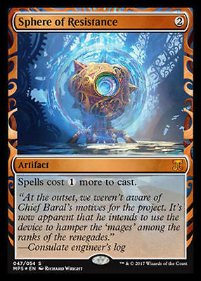 MTG Magic Masterpiece INVENTIONS Aether Revolt X1  FOIL Sphere of Resistance