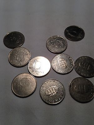 Small Joblot of 10x Hungarian FORINT coins - see all pictures!