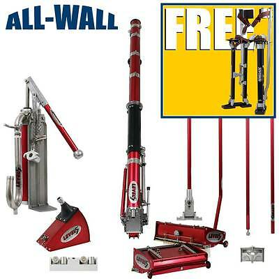 Level5 Full Set Drywall Taping Tools w/FREE STILTS & BEADBOXERS *Zancos GRATIS*