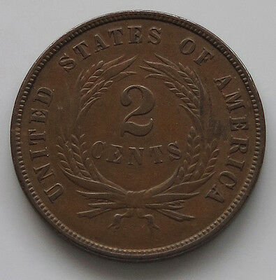 UNITED STATES 2 CENTS 1864 LARGE MOTTO   #je 033