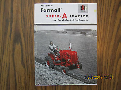 Farmall Super A With Touch Control Sales Catalog