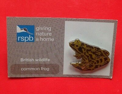 RSPB-British Wildlife COMMON FROG Pin Badge.