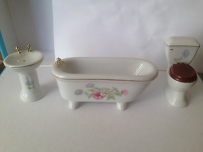 12th Scale Ceramic Bathroom Set