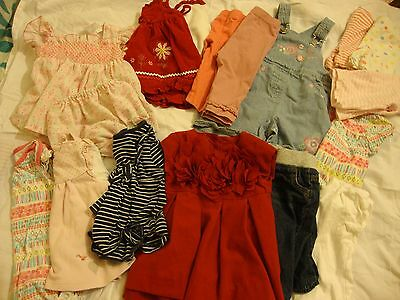 Baby Girls mixed Bundle 3-6m Dresses Outfits T-shirts
