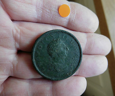 Early Milled George Iii Copper Penny Dated 1806