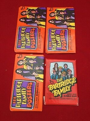 Lot Of 3 1971 Topps Partridge Family Posters Sealed Unopened Wax Packs + More