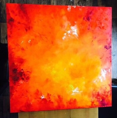 Bespoke Hand Painted Abstract Oil Painting Beautiful!! Must See!! LARGE 900x900