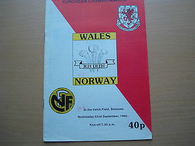 Wales V  Norway Sep 1982