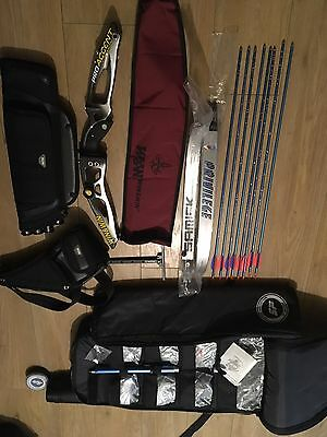 """Win&win Win Win Pro Accent Carbon 25"""" Recurve Bow Complete Kit"""