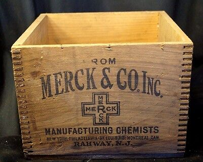 Antique 1910s 20s Merck Chemical Advertising Box