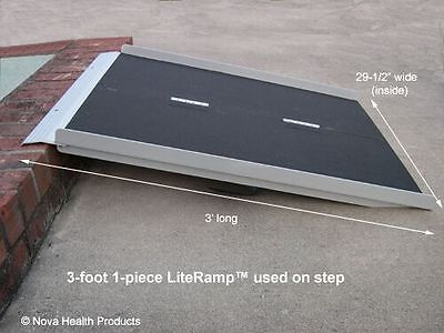 3' Wheelchair Scooter Ramp   Portable Ramps for Home / Auto   LiteRamp LR3