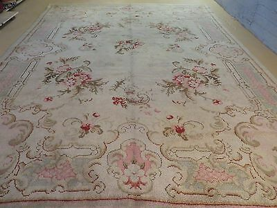 10' X 13' Antique Hand Made European Spanish Portuguese French  Wool Rug Nice