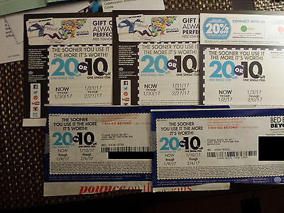 5 NEW Bed Bath & Beyond coupons Exp January 9th To Feb 2017