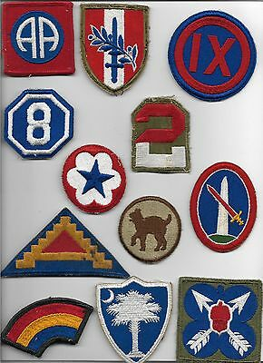 Us Army Patch Lot Of 12 Used Damaged Cut Edge & Merrowed Patches