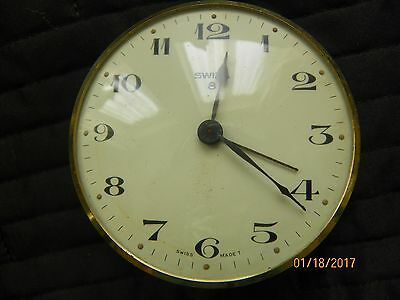 Swiza 8 day Swiss made Alarm Clock ref spares or repair easy fix
