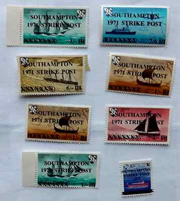 Great Britain  stamps 1971 over prints post office strike