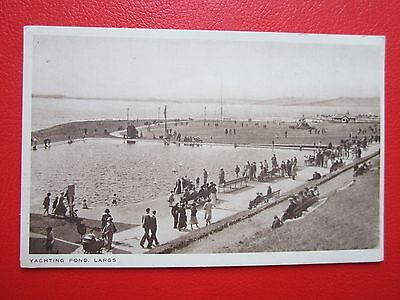 Postcard Of Largs,North Ayrshire -- The Yachting Pond -- c.1950's/unused.