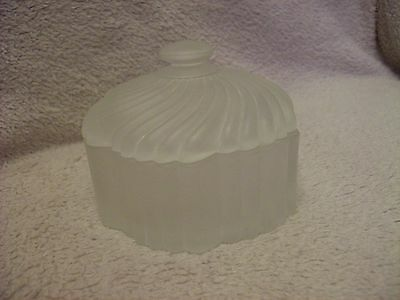 Frosted/Opaline Glass Dressing Table Trinket Dish