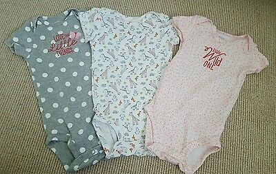 bundle of 3 new baby girl vests - size 9 months - animal theme