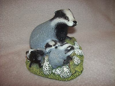 Well Crafted Badger Family Group Figurine