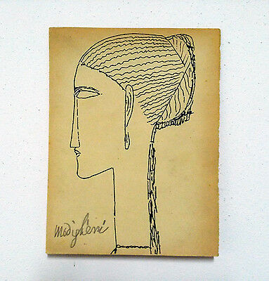 Rare Portrait Old Master Amedeo Modigliani after drawing GYPSY WOMAN Signed