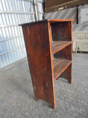 Vintage oak  open fronted bookcase book shelf unit with two  book shelves