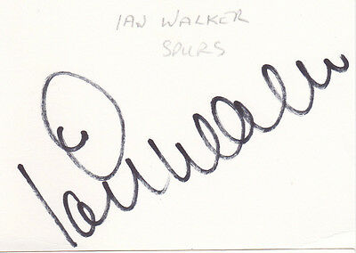 Tottenham Hotspur IAN WALKER Signed Index Card