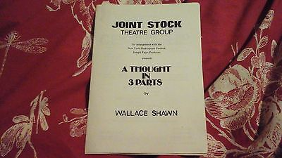 A Thought In 3 Parts - Wallace Shawn   1977   Joint Stock  = Freepost