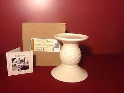 Longaberger IVORY Pottery~ CANDLE STAND ~ NEW in Box!