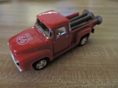 Santa Fe railroad date nails 27 28 29, in a RT66 1956 Ford F100 Pick-up