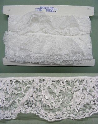 Gathered White Lace 10 metres (828)