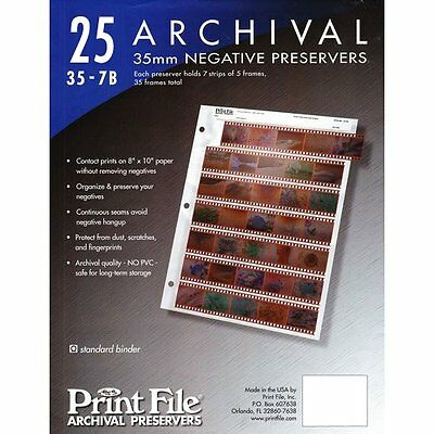 100 35mm Film Archival Preservers~35-6hb~clear Negative Pages/sleeves Print File