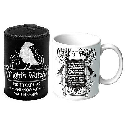 GAME OF THRONES NIGHT'S WATCH Mug & Can Cooler - Tea Coffee Glass Cup Gift