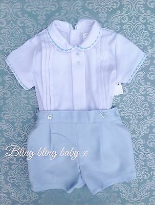Baby Boys Spanish Traditional Romper Shirt Shorts Outfit Set Romany 3-6 Months