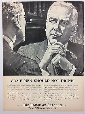 1938 AD- LIFE MAGAZINE Whiskey HOUSE of SEAGRAM Alcohol Prohibition Moderation