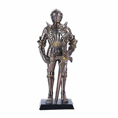 Medieval Knight Eleventh Century Horseman Statue Suit Of Armor With Base