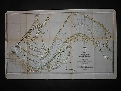Original Memphis Tennessee Mississippi River Levees 1905 Map